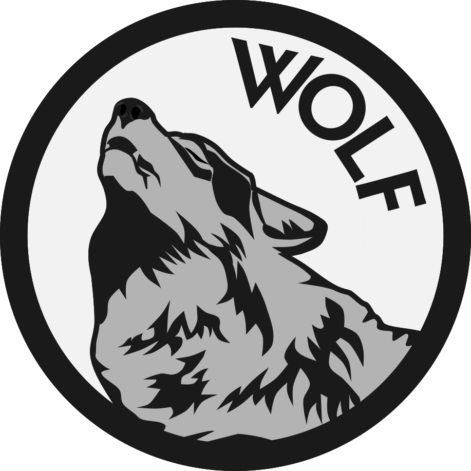 Wolf Logo - Gray on White