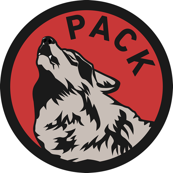 Wolf Pack Red Background