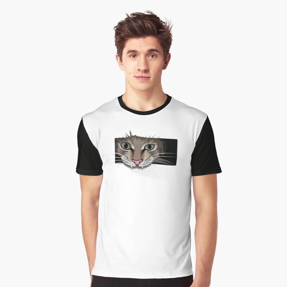 Gray cat T-Shirt for men