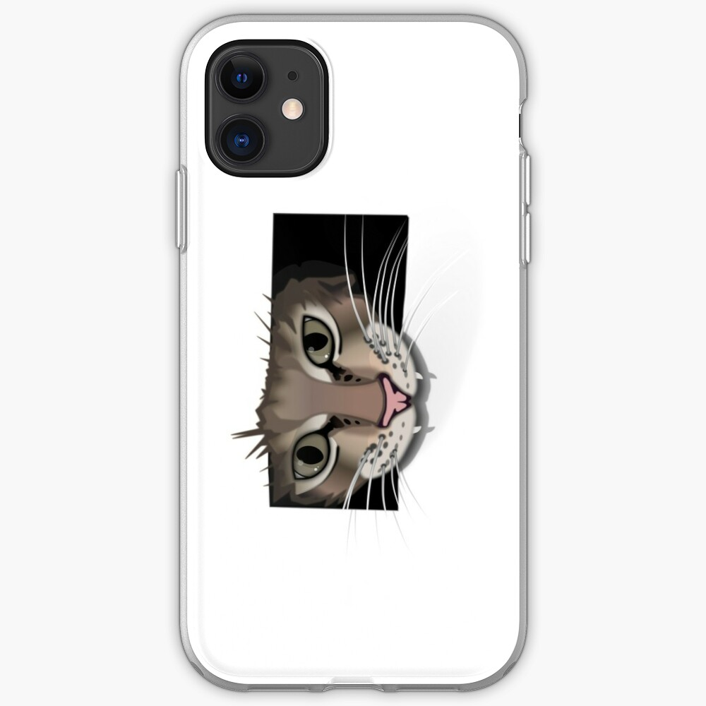 Gray cat iphone cover