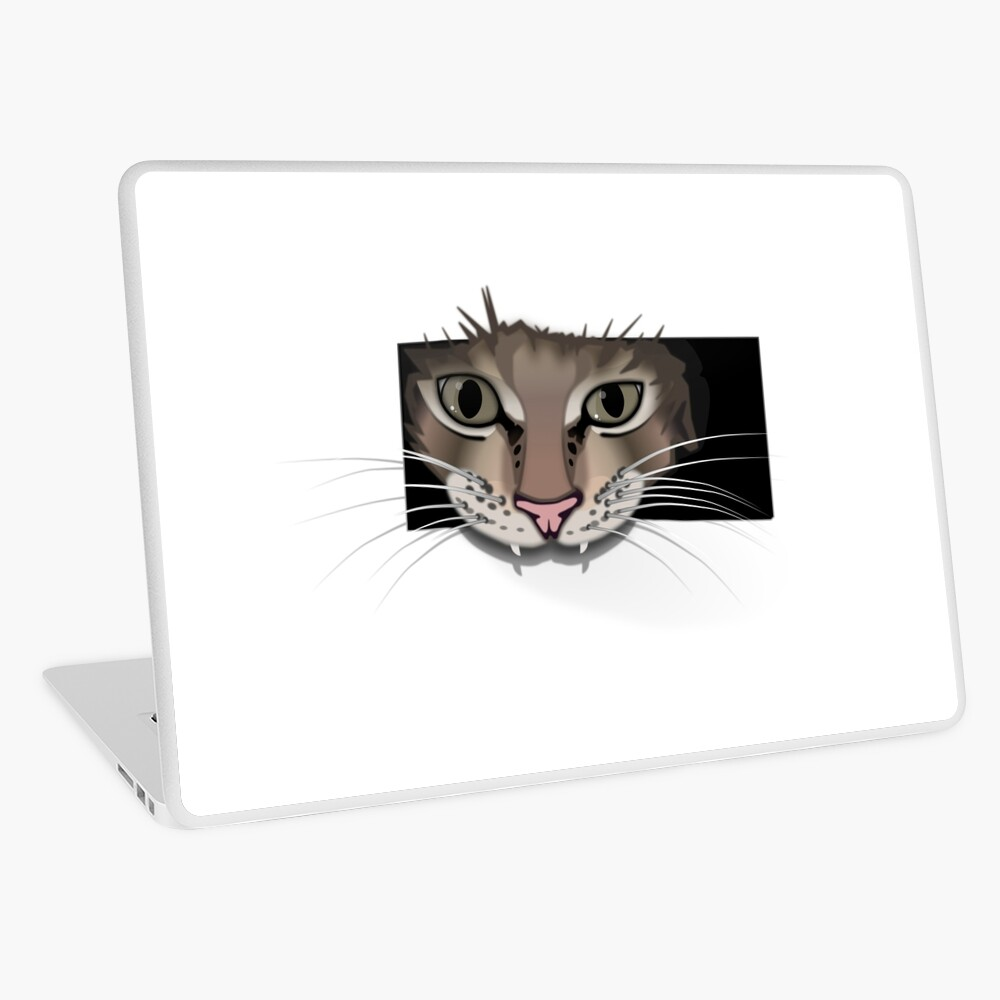 Gray cat laptop netbook cover