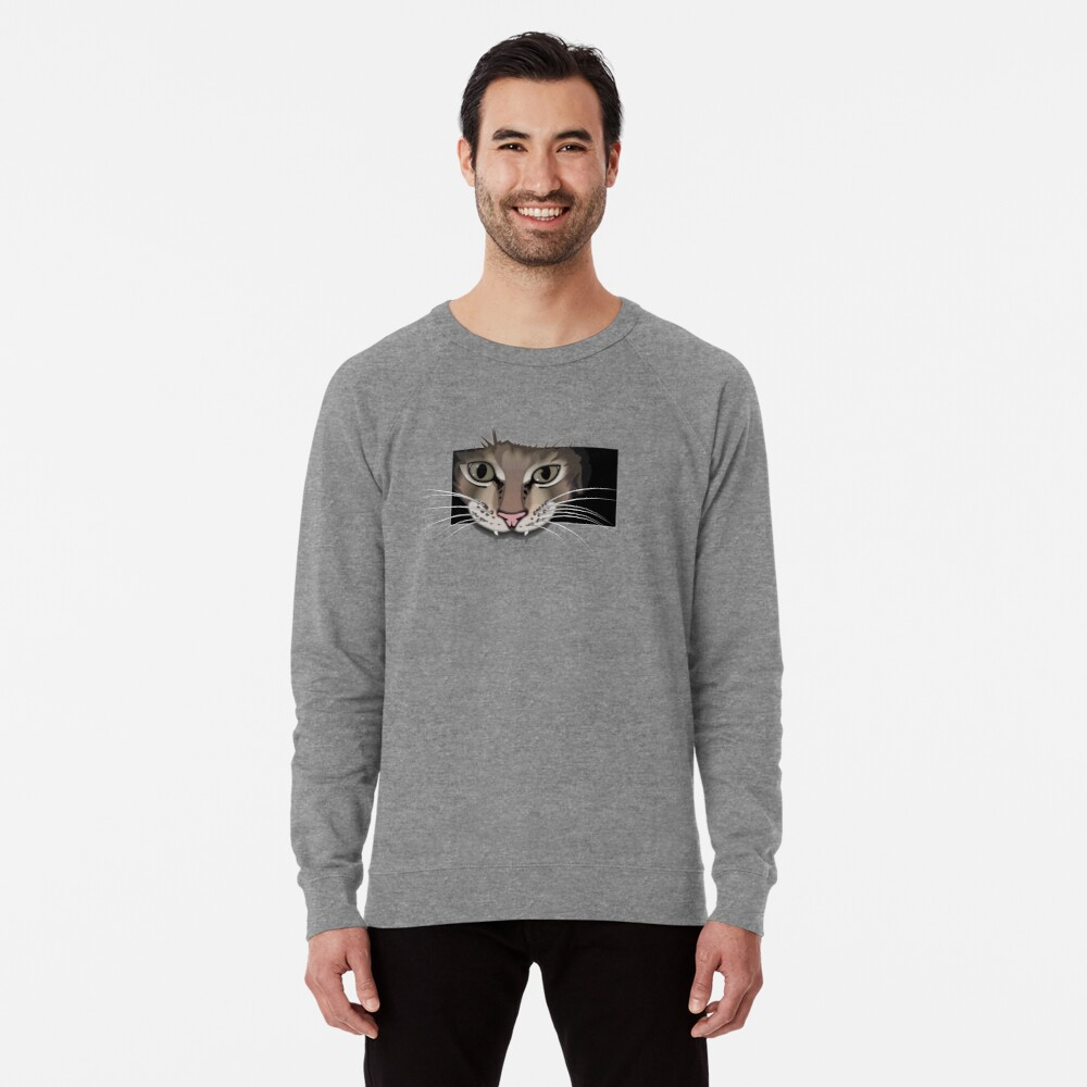 Gray cat sweatshirt