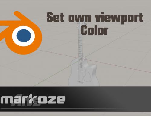 Blender set your own 3D view background color